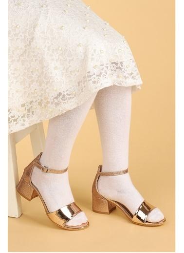 Kiko Kids Kiko 768 Ayna Kum Günlük Kız Çocuk 3 Cm Topuk Sandalet Ayakkabı Bakır